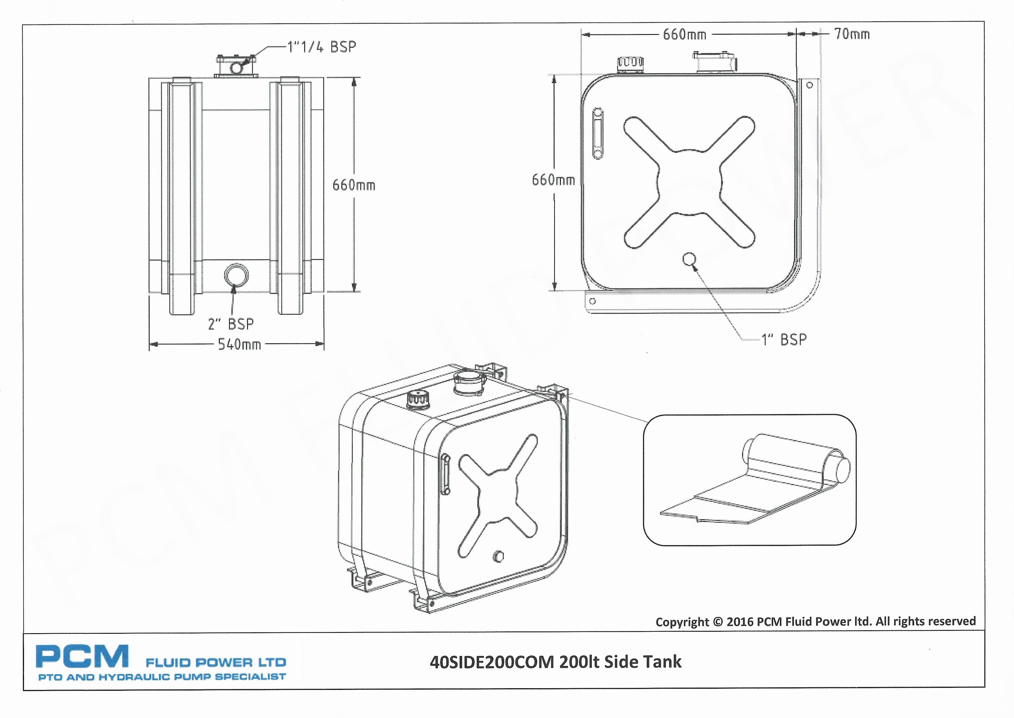 hydraulic oil tanks diagrams